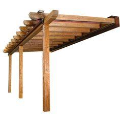pergola de madera y numero de postes - Foro de InfoJardín ❤ liked on Polyvore