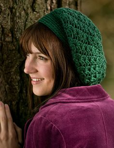 lacey Slouchy Beret Crochet Pattern | Home / Patterns / New / Galway Slouchy Crochet Beret Pattern