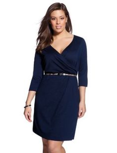 eloquii Signature 3/4 Sleeve Wrap Dress …, http://style-smilez.tumblr.com/post/43570347680/eloquii-signature-3-4-sleeve-wrap-dress , Pinned by http://pinterest.com/pinterestfella