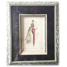 Atelier Cadres enVie, biseau escalier, gravure de mode ancienne, encadrement 92, atelier week-end