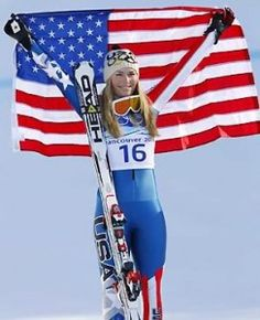 Lindsey Vonn. Ski Racing. America. (She is gorgeous & a ferocious competitor. Olympics begin today!)