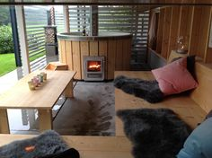 Whirlpool Deck, Hot Tub Patio, Scandinavian Garden, Wooden Terrace, Rectangular Pool, Pergola Canopy, Outdoor Living, Outdoor Decor, Sauna