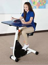 Kinesthetic classroom desks.  Desks that help kids move while they are learning.