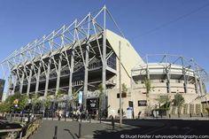 St James' Park stadium in Newcastle-upon-Tyne, England.