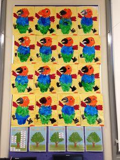 How the Birds Got Their Colours artworks by kindergarten.