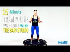 Looking for a trampoline workout? Check out the free trampoline workout videos at JumpSport. Watch a trampoline workout video and start working out like a pro. Trampolines, Training Fitness, Weight Training Workouts, Health Fitness, Mini Trampoline Workout, Rebounder Trampoline, Rebounder Workout, Kickboxing Workout, Fitness Studio