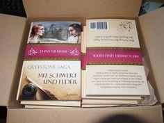 Ein Paket voll mit dem ersten Teil der Greystone Saga für die Leserunde auf lovelybooks.de