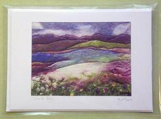 Handmade greeting card: Scourie bay Scottish Highlands.
