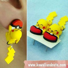 Pikachu earrings. #pikachu #pokemon #pokeball #pokemons #kawaii #fimo #fimoclay #clay #sculpey #polymerclay #polimerclay #kawaiiandcute #handmadewithlove #handmade #hechoamano #hechoconamor