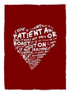 Love Is (8x10 Christian Art Print)