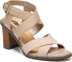 Dr. Scholl's Shoes - A strappy silhouette with a fresh twist, the Dr Scholl's Precise Cross Strap Sandal is something you will fall in love with right away. This shoe features an adjustable buckle, a True Comfort memory foam insole, and a stacked block heel. - #dr.scholl'sshoes #snakeshoes