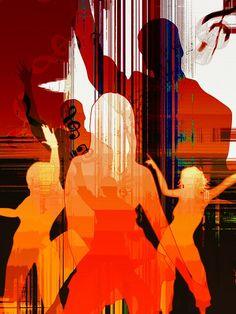 silhouette girl movement dance light lust for life