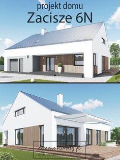 Projekt domu parterowego z wygodnym wnętrzem, utrzymanego w nowoczesnej, minimalistycznej stylistyce. Funkcjonalne i przestronne wnętrze posiada wszystko, co może zapewnić mieszkańcom komfort i wygodę. Warto zwrócić uwagę na wyposażenie domu w dwie łazienki, dużą garderobę oraz garaż z aneksem na drobny sprzęt.