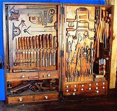 Antique pattern maker's tool chest.