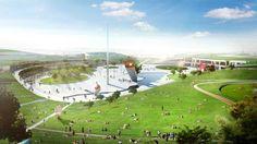 Urban Center Design: Urban Green Living Design : Spacious Yard Design For Large European City Landscape Size