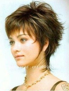Short shag hairstyles - New Hair Styles ideas Short Sassy Haircuts, Short Shag Hairstyles, Hairstyles For Round Faces, Short Hairstyles For Women, Wig Hairstyles, Layered Hairstyles, Pixie Haircuts, Medium Hairstyles, Black Hairstyles