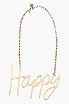 LANVIN Gold Happy Necklace