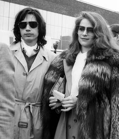 Jean-Michel Jarre and Charlotte Rampling in London, circa 1975