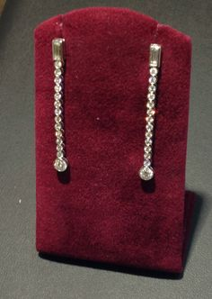 These diamond drop earrings are part of Becker's ever-growing estate department!