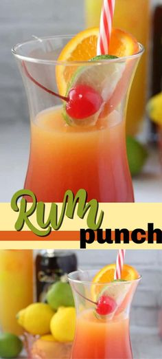 Pineapple juice and orange juice come together with dark rum and grenadine to make an irresistible summer rum punch cocktail! Perfect for pool parties and backyard barbecues! #rumpunch #rummixeddrinks #summerdrinks #rumcocktails #rumpunchrecipe #summercocktails #drinkswithrum #cocktails #amandascookin