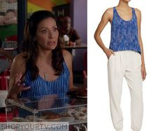 Switched at Birth: Season 4 Episode 20 Regina's Blue Striped Tank