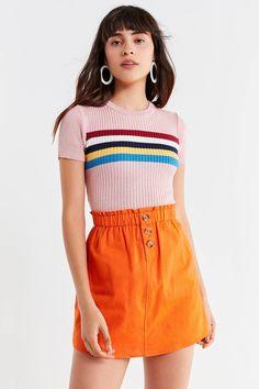 UO Pari Paperbag Mini Skirt | Urban Outfitters