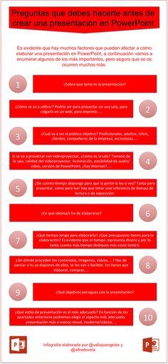 Preguntas que debes hacerte antes de crear una presentación en PowerPoint #infografia