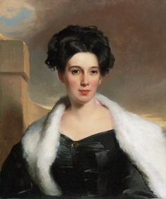 Portrait of Mary Ann Heide Norris Thomas Sully (American, Oil on canvas. Philadelphia Museum of Art. Norris' idealized likeness demonstrates Sully's interest in varying textures, as seen in the contrasts among her satin. Thomas Gainsborough, William Hogarth, Dante Gabriel Rossetti, John Everett Millais, Munier, Non Blondes, Flapper, Philadelphia Museum Of Art, Oil Painting Reproductions
