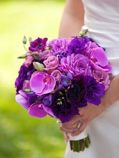 one of my favorites. the kind of vibrant purple bouquet i'm going for.