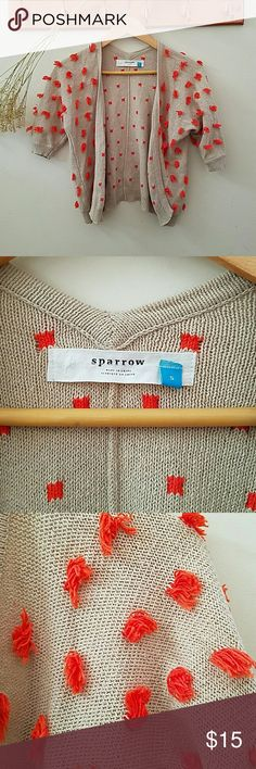 Anthropologie Cardigan Anthropologie knit sweater with crochet details. Sparrow brand. Like new. Anthropologie Sweaters Cardigans