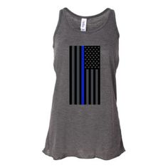 Flag Thin Blue Line Tank by LEOWclothing on Etsy, $24.00
