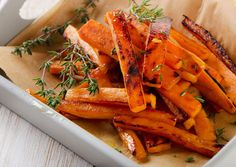 Sweet Potatoes Everything you need to know - how to select, store and prepare. Sweet potato tips and ingredients that go well with sweet potatoes. Best Baked Sweet Potato, Sweet Potato Chips, Sweet Potato Recipes, Butternut Squash Fries, Glazed Sweet Potatoes, Best Diet Foods, Metabolic Diet, Heart Healthy Recipes, Delicious Recipes