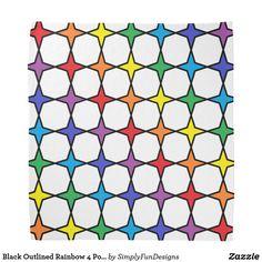 Black Outlined Rainbow 4 Point Stars Bandana