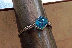 Handmade stylish wire ring