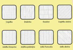 wzory układania parkietu