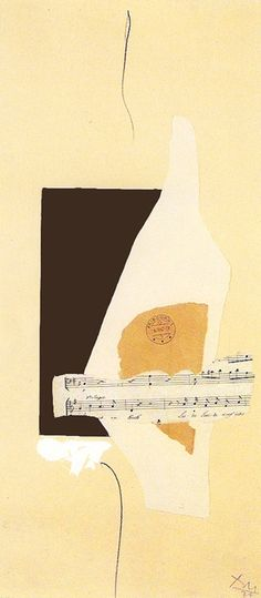 Robert Motherwell, Cabaret No. 2, 1974 Acrylic, pasted papers, and graphite on paper