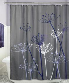 Another great find on #zulily! Gray & Purple Thistle Shower Curtain by InterDesign #zulilyfinds