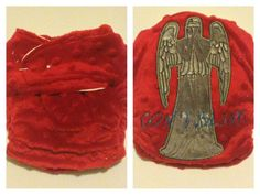 Someone: Please please please buy this for Emily!!!! Doctor Who Weeping Angel Onesize Cover by ebberdeeber on Etsy, $19.00