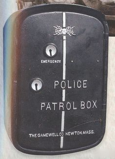 The Gamewell System - The system consisted of a metal box mounted to a pole. It had an electric police alarm that operated on telegraphic principals allowing officers to send prearranged messages to headquarters by operating certain switched. At once time 192 of the boxes were located throughout Kansas City.
