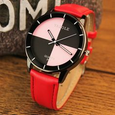 YAZOLE 345 Leather Wrist Watch