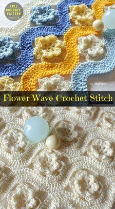 Flower Wave Crochet Stitch [Free Pattern] | My Hobby