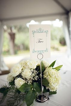 baroque table marker - Invitations by Ajalon