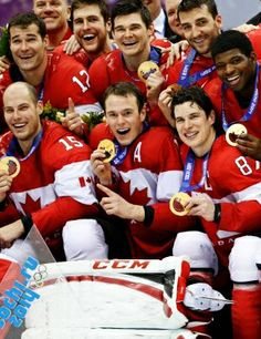 TEAM CANADA MEN'S HOCKEY WINS OLYMPIC GOLD AGAIN!!!  Way to go guys, you rock!  Congratulations also to the Women's Hockey team for their gold medal win! Sochi 2014