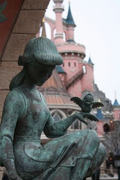 #disneyland paris. Cinderella statue in fantasyland #DLP #DLRP #Disney
