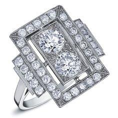 grosse bague or blanc diamant