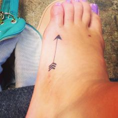 arrow foot tattoo - Google Search