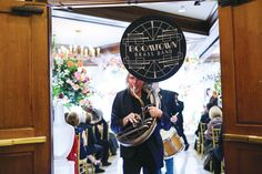 real wedding photo the houstonian in houston texas ann whittington events wedding ceremony entertainment brass band recessional Wedding Ceremony, Our Wedding, Ceiling Installation, Brass Band, Wedding Entertainment, Chuppah, Metallic Colors, New Years Eve, Perfect Wedding