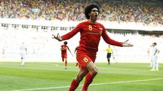 Marouane #Fellaini and Dries Mertens scored the two goals for #Belgium. Australia to take on #Netherlands, #Spain meets Chile, and #Cameroon up against Croatia today