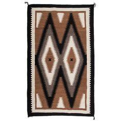 Navajo Two Grey Hills Weaving / Rug - Apr 2018 Chief Seattle, Navajo Art, Weave, Auction, Wool, Studio, Rugs, Grey, Design