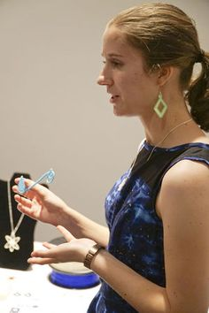 Erin Winick, a Unniversity of Florida mechanical engineering senior, founded Sci Chic, a company that produces science-inspired accessories.